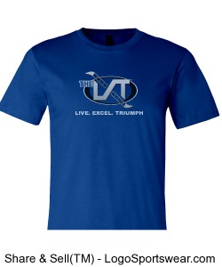 The LXT Men's Royal Blue Tee Design Zoom