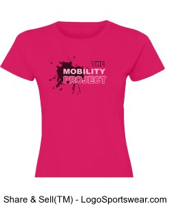 Mobility Project Hot Pink Woman's tee Design Zoom
