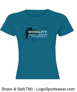 Mobility Project Cobalt Blue Woman's tee Design Zoom